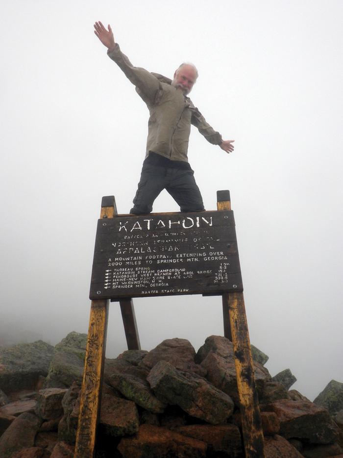 Mt. Katahdin summit, Day 196