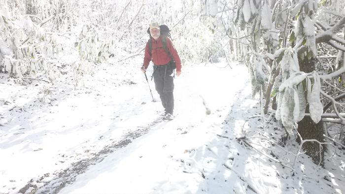Snowstorm at Beauty Spot Gap, Erwin, TN, Day 30